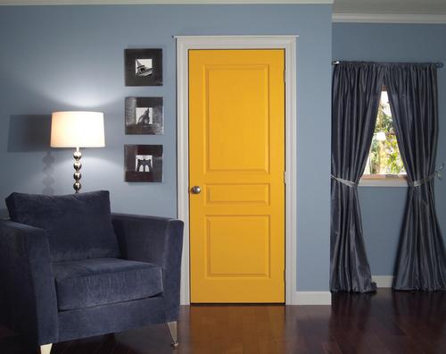 Классическая дверь с покраской