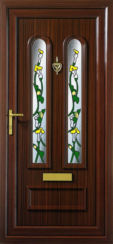 входные двери со стеклом из пвх в москве купить